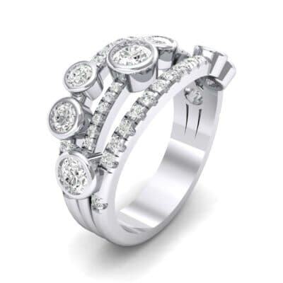 Triple Band Seven-Stone Diamond Ring (1.71 Carat)