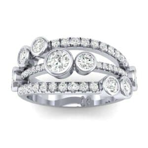 Triple Band Seven-Stone Diamond Ring (1.71 Carat)