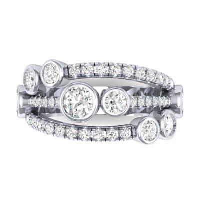 Triple Band Seven-Stone Diamond Ring (1.86 CTW) Top Flat View