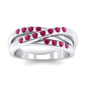 Rolling Triple Band Ruby Ring (0.3 Carat)