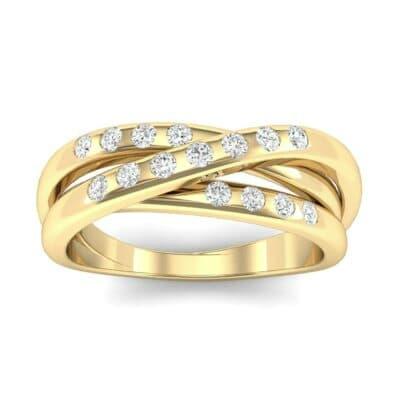 Rolling Triple Band Diamond Ring (0.23 Carat)