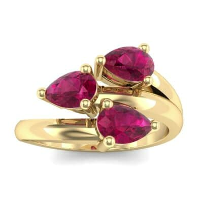 Open Band Pear-Shape  Ruby Ring (1.08 Carat)