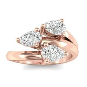 Open Band Pear-Shape  Diamond Ring (1.08 Carat)