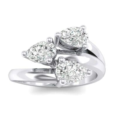 Open Band Pear-Shape  Diamond Ring (1.08 Carat)