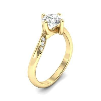 Contoured  Diamond Bypass Engagement Ring (0.51 Carat)