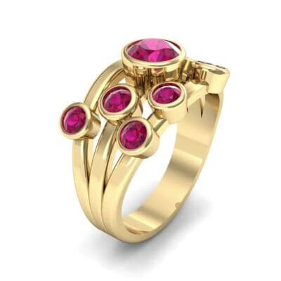 Triple Band Octave Ruby Ring (0.99 Carat)