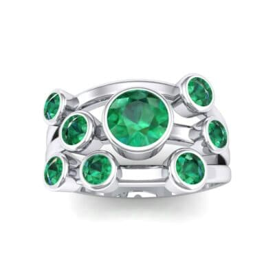 Triple Band Octave Emerald Ring (0.99 Carat)