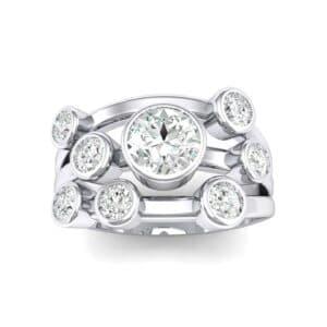 Triple Band Octave Diamond Ring (0.82 Carat)