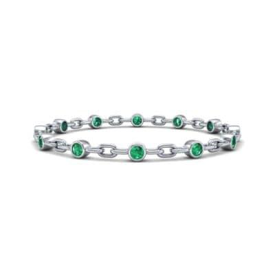 Bezel-Set Emerald Link Bracelet (0.7 Carat)