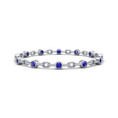 Bezel-Set Blue Sapphire Link Bracelet (0.7 Carat)