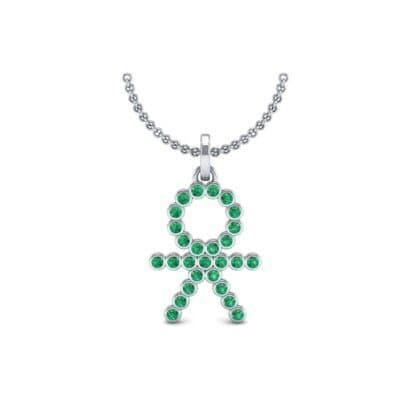 BOY Bezel-Set Emerald Pendant (0.41 CTW) Perspective View