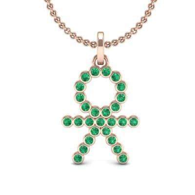 BOY Bezel-Set Emerald Pendant (0.41 CTW) Top Dynamic View