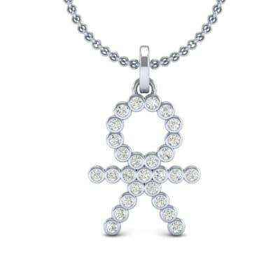 BOY Bezel-Set Diamond Pendant (0.27 CTW) Top Dynamic View