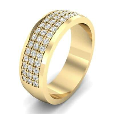 Triple Line Half Eternity Diamond Wedding Ring (1.04 Carat)
