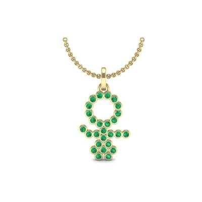 GIRL Bezel-Set Emerald Pendant (0.41 Carat)