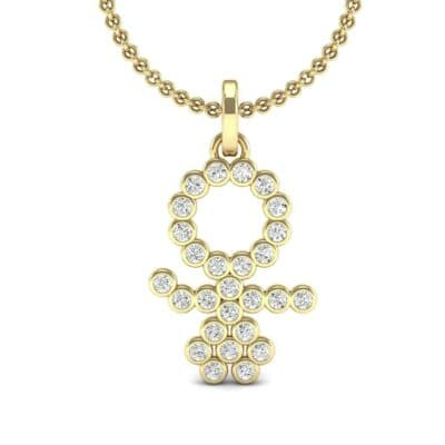 GIRL Bezel-Set Diamond Pendant (0.27 CTW) Top Dynamic View