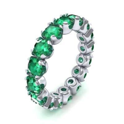 Round Brilliant Emerald Eternity Ring (1.28 Carat)