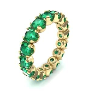 Round Brilliant Emerald Eternity Ring (1.28 Carat)