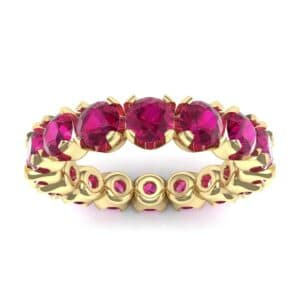 Round Brilliant Ruby Eternity Ring (1.28 Carat)