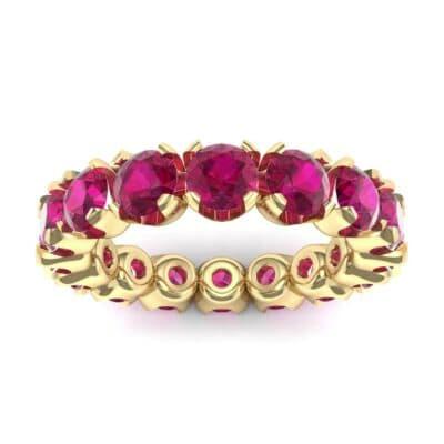 Round Brilliant Ruby Eternity Ring (1.28 Carat)