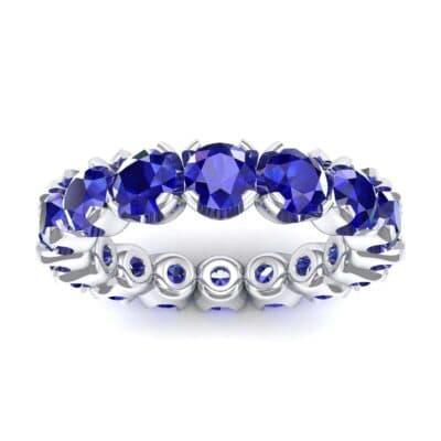 Round Brilliant Blue Sapphire Eternity Ring (1.28 Carat)