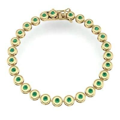 Tiny Bezel-Set Emerald Tennis Bracelet (1.62 CTW) Perspective View