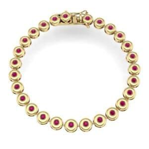 Tiny Bezel-Set Ruby Tennis Bracelet (1.62 Carat)
