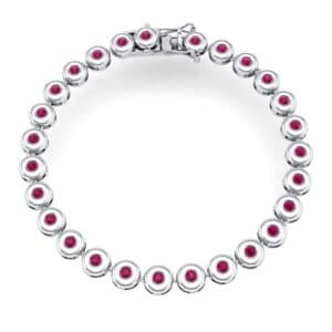 Tiny Bezel-Set Ruby Tennis Bracelet (1.62 Carat)