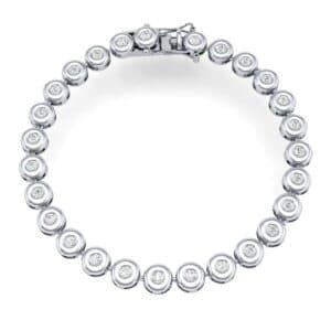 Tiny Bezel-Set Diamond Tennis Bracelet (1.35 Carat)