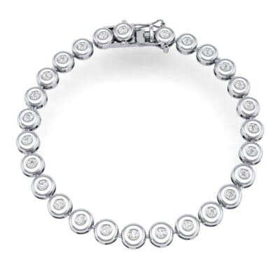 Tiny Bezel-Set Diamond Tennis Bracelet (1.35 CTW) Perspective View