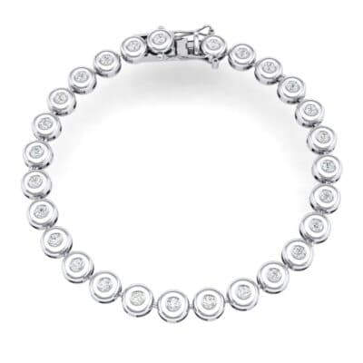 Tiny Bezel-Set Diamond Tennis Bracelet (1.35 Carat)