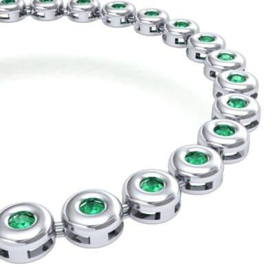 Tiny Bezel-Set Emerald Tennis Bracelet (1.62 CTW) Top Dynamic View