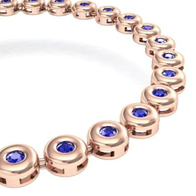 Tiny Bezel-Set Blue Sapphire Tennis Bracelet (1.62 CTW) Top Dynamic View