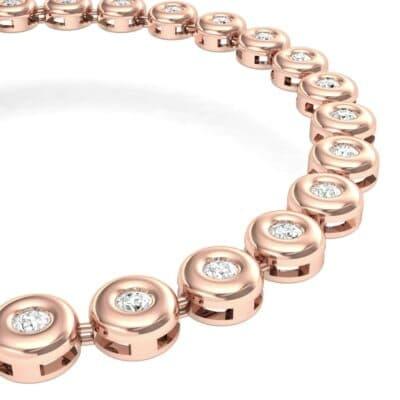 Tiny Bezel-Set Diamond Tennis Bracelet (1.35 CTW) Top Dynamic View