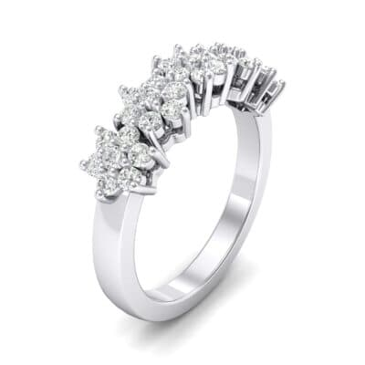 Five Flower Crystals Ring (0.44 Carat)