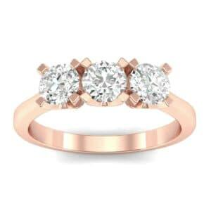 Tapered Trinity Diamond Engagement Ring (0.69 Carat)