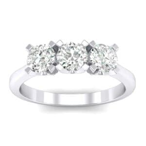 Tapered Trinity Diamond Engagement Ring (0.69 Carat)