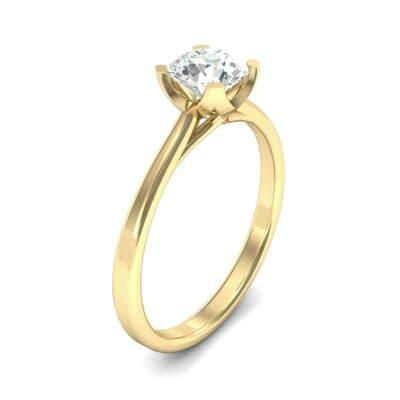 Tapered Trellis Solitaire Diamond Engagement Ring (0.46 Carat)