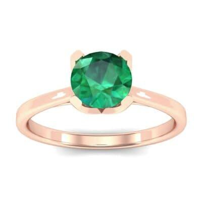 Tapered Trellis Solitaire Emerald Engagement Ring (0.7 Carat)