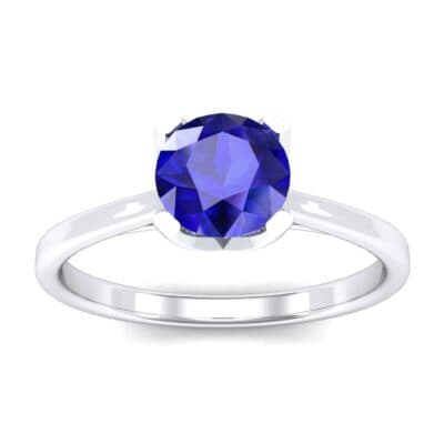 Tapered Trellis Solitaire Blue Sapphire Engagement Ring (0.7 Carat)