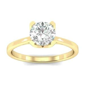 Tapered Trellis Solitaire Diamond Engagement Ring (0.46 Carat)