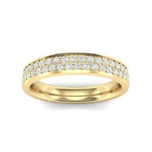 Flat Two-Row Pave Diamond Ring (0.42 Carat)