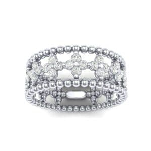 Clover Diamond Bead Ring (0.79 Carat)