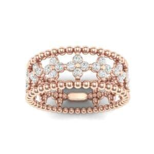 Clover Diamond Bead Ring (0.79 Carat)