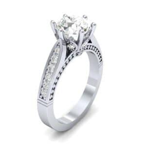 Coronet Engraved Diamond Engagement Ring (0.74 Carat)