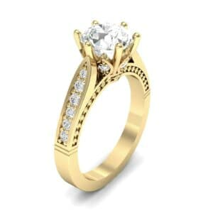 Coronet Engraved Diamond Engagement Ring (0.74 Carat)