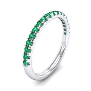 Pave Emerald Ring (0.28 Carat)