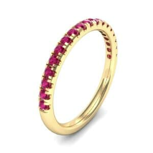 Pave Ruby Ring (0.28 Carat)
