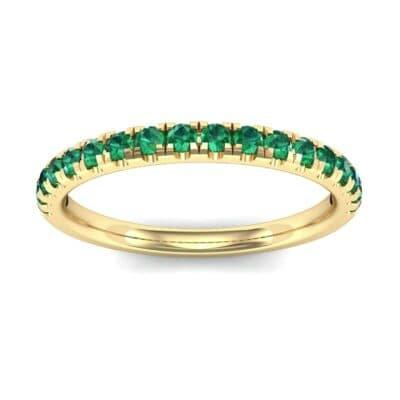 Pave Emerald Ring (0.28 Carat)