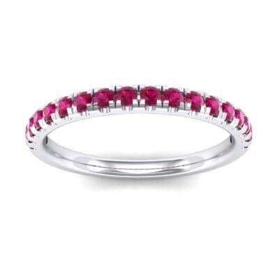 Pave Ruby Ring (0.28 Carat)